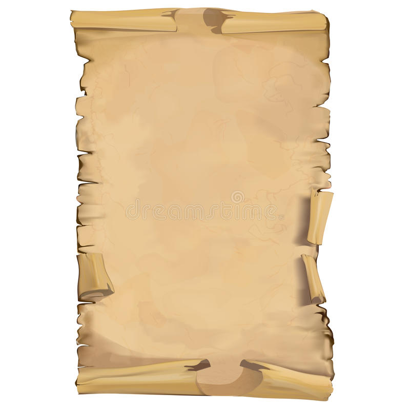 Ślimacznica stary papier royalty ilustracja