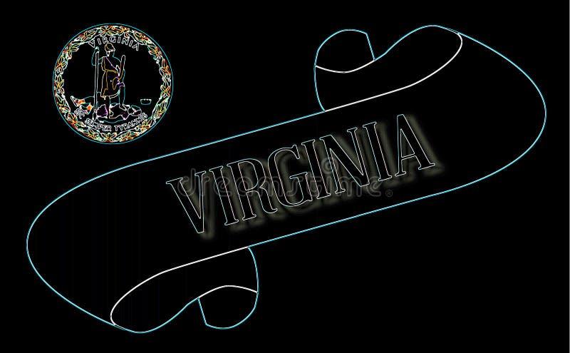 Ślimacznica z tekstem Virginia ilustracja wektor