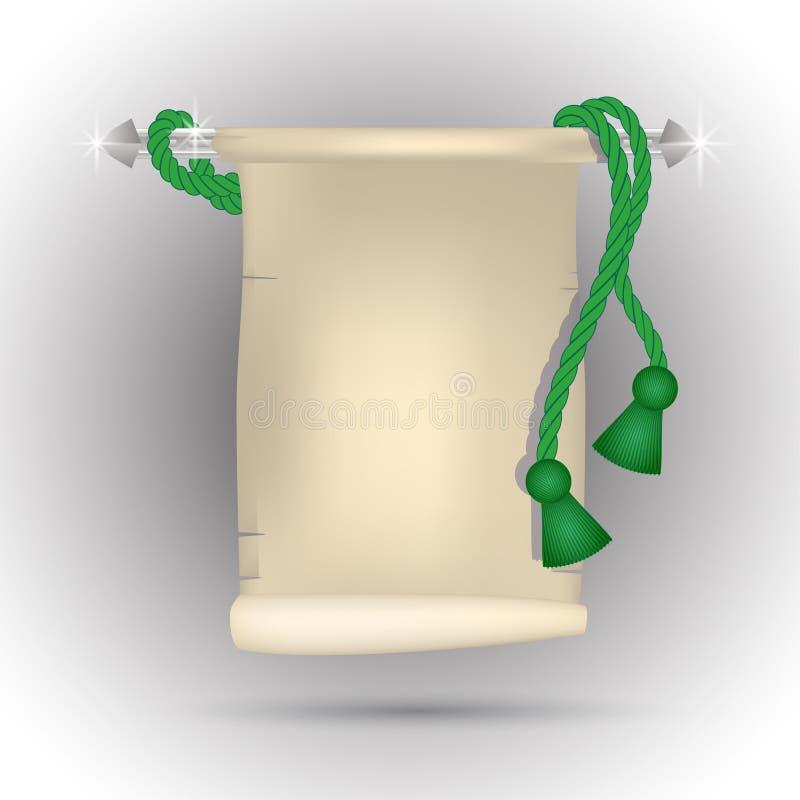 Ślimacznica z zielonymi kitkami ilustracji