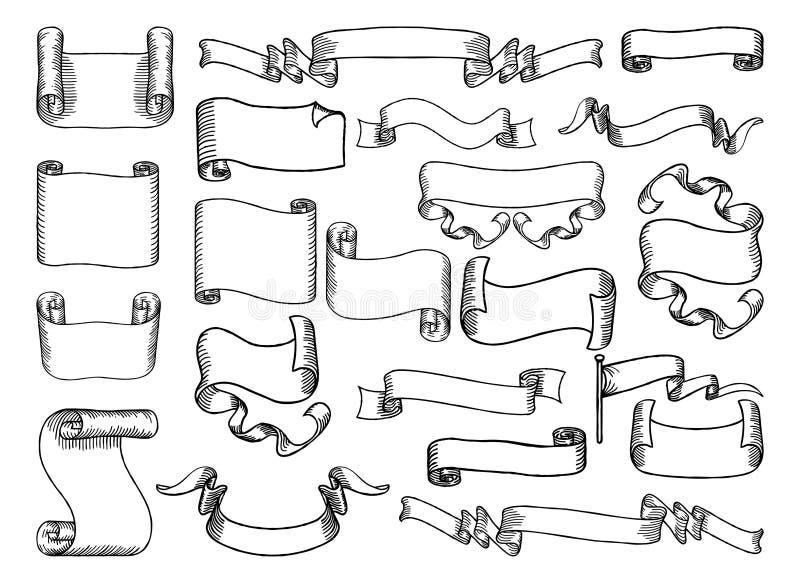 Ślimacznicy i sztandary Ustawiający ilustracji