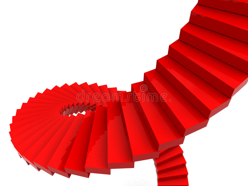 ślimakowaci czerwień schodki ilustracja wektor