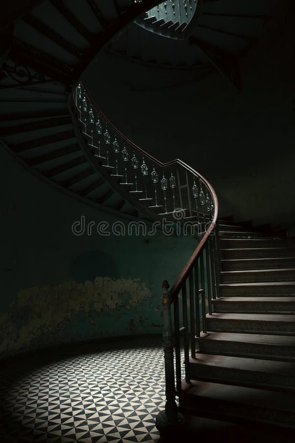 Ślimakowaci schodki zdjęcia stock