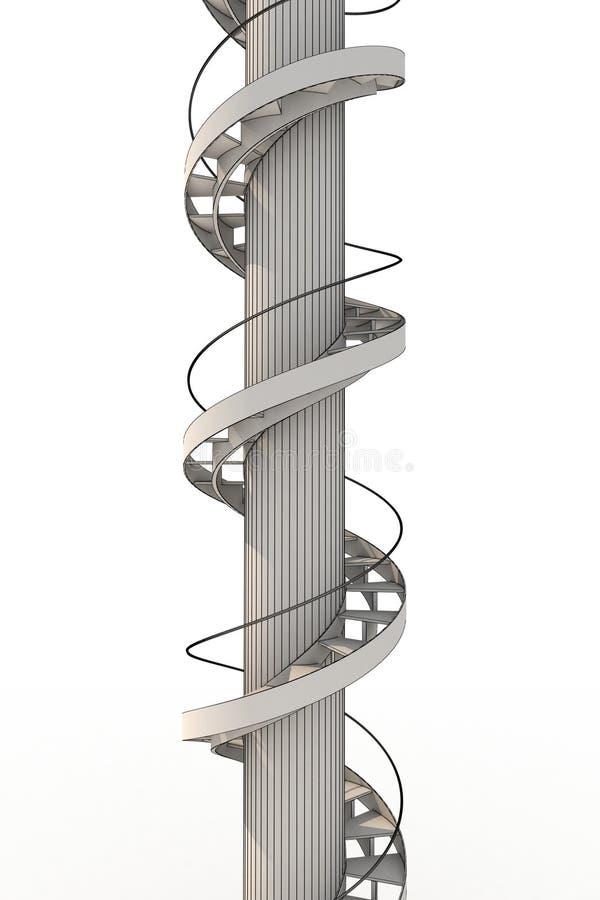 ślimakowaci schodki ilustracji