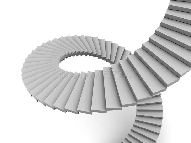 ślimakowaci schodki royalty ilustracja