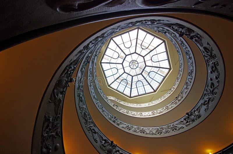 Ślimakowaci schodki Watykańscy muzea fotografia stock