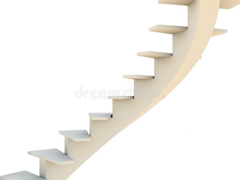 ślimakowaci schody. ilustracja wektor