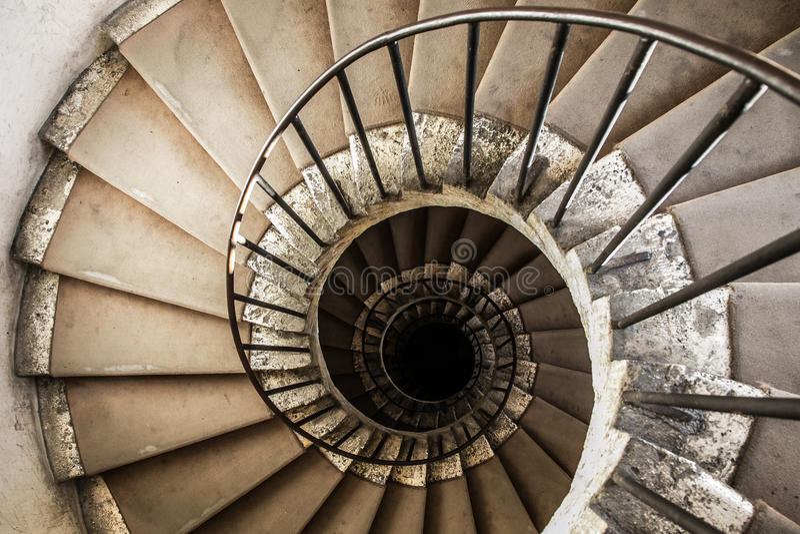 Ślimakowaci schody fotografia royalty free