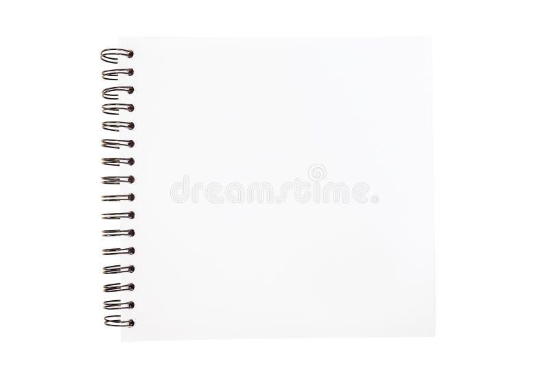 Ślimakowata nakreślenie książka otwierał odosobnionego na białym tle fotografia royalty free