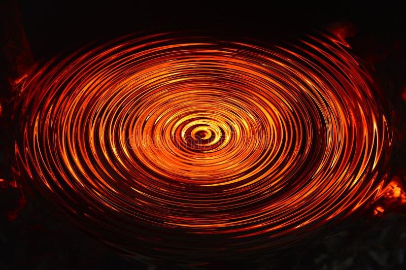 Ślimakowata struktura lawa okrąg ilustracja wektor