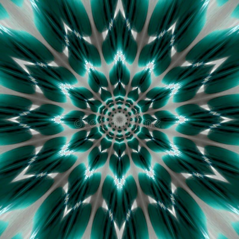 Ślimakowatej skręt ciemnej cyraneczki tła fractal wibrujący psychodeliczny mandala ilustracji