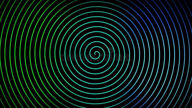 Ślimakowaty ciemny hipnotyczny tło ilustracja wektor