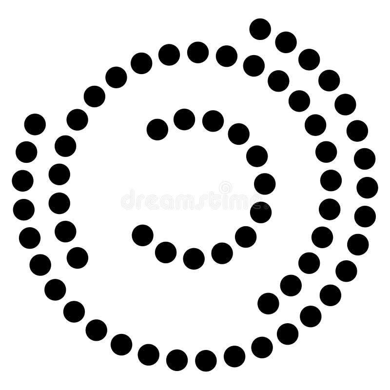 Ślimakowaty element z koncentrycznymi okręgami Abstrakcjonistyczny dekoracyjny elem ilustracji