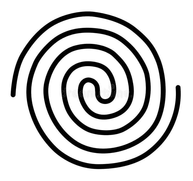 Ślimakowaty galaktyczny nieskończoność energetycznego przepływu pantha rhei pozaziemski związek ilustracji