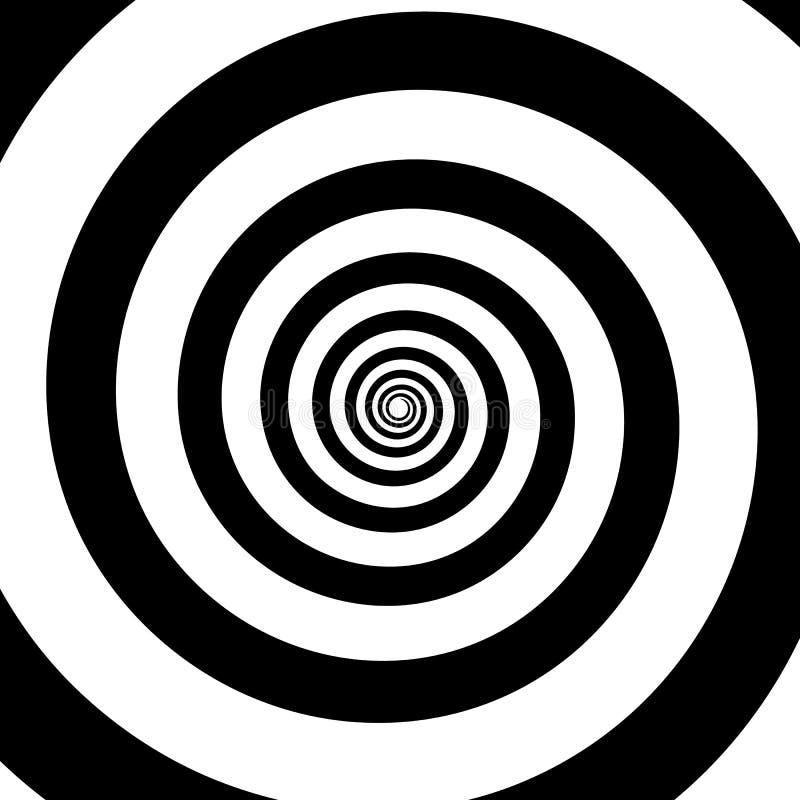 Ślimakowaty koloru czerń na białym tle ilustracja wektor