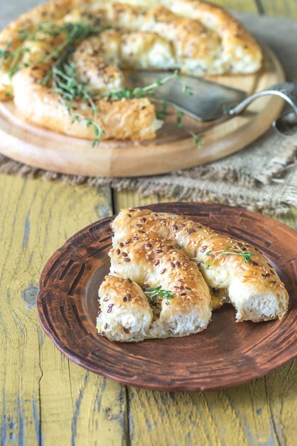 Ślimakowaty phyllo kulebiak z feta fotografia royalty free