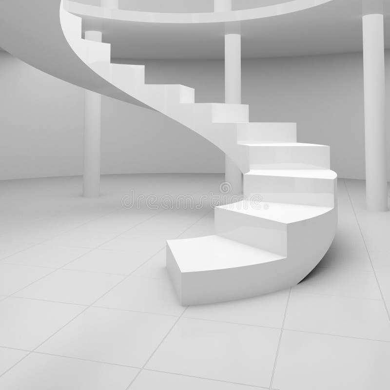 ślimakowaty schody ilustracji