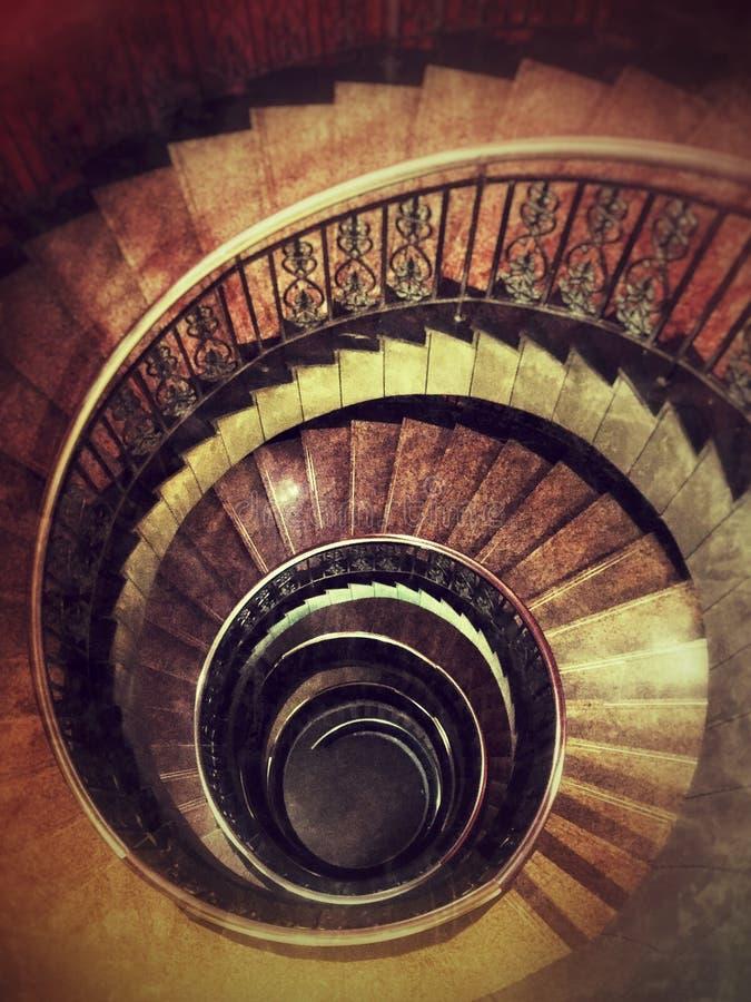 Ślimakowaty schody w kinie zdjęcia stock
