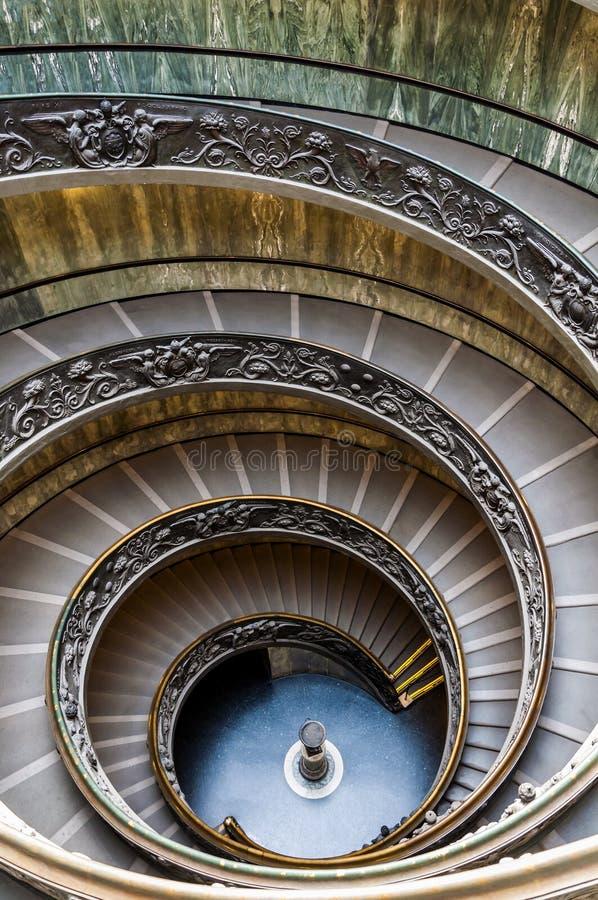 Ślimakowaty schody Watykańscy muzea fotografia royalty free