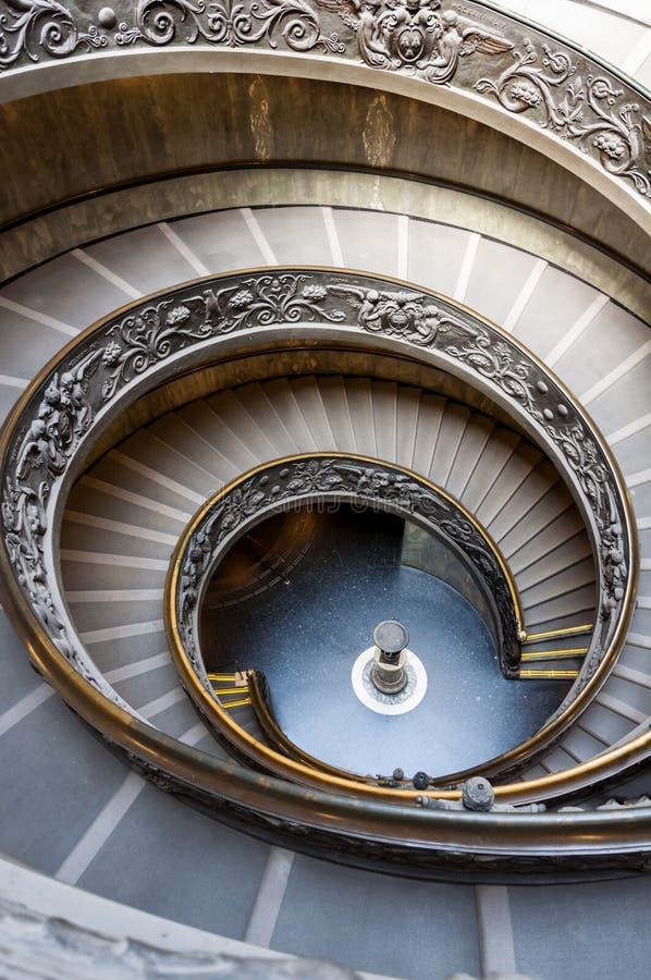 Ślimakowaty schody Watykańscy muzea obraz stock