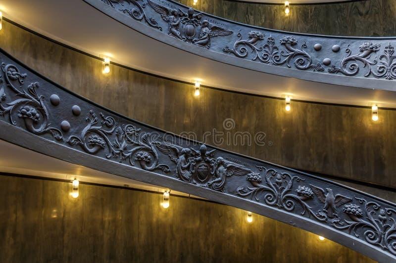 Ślimakowaty schody Watykańscy muzea zdjęcie stock