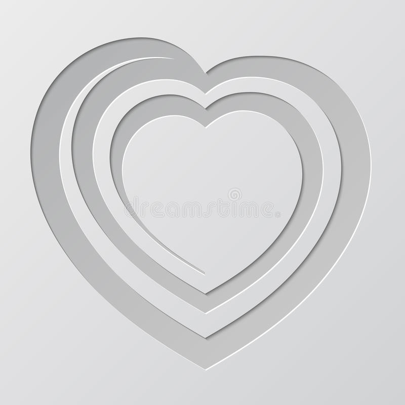 Ślimakowaty serce cutted od papieru ilustracji