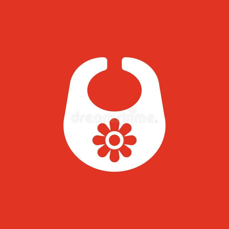 Śliniaczek ikona Projekt Breastplate i fartuch, śliniaczka symbol Sieć grafika ai app logo zaciemnia mieszkanie niezrównoważenie  ilustracji