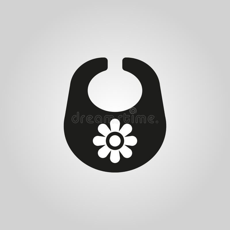 Śliniaczek ikona Projekt Breastplate i fartucha symbol Sieć grafika ai app logo zaciemnia mieszkanie niezrównoważenie Znak EPS sz ilustracji
