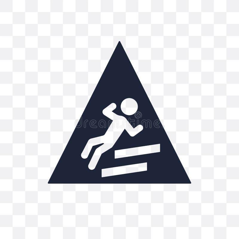 Śliska szyldowa przejrzysta ikona Śliski szyldowy symbolu projekt od ilustracja wektor