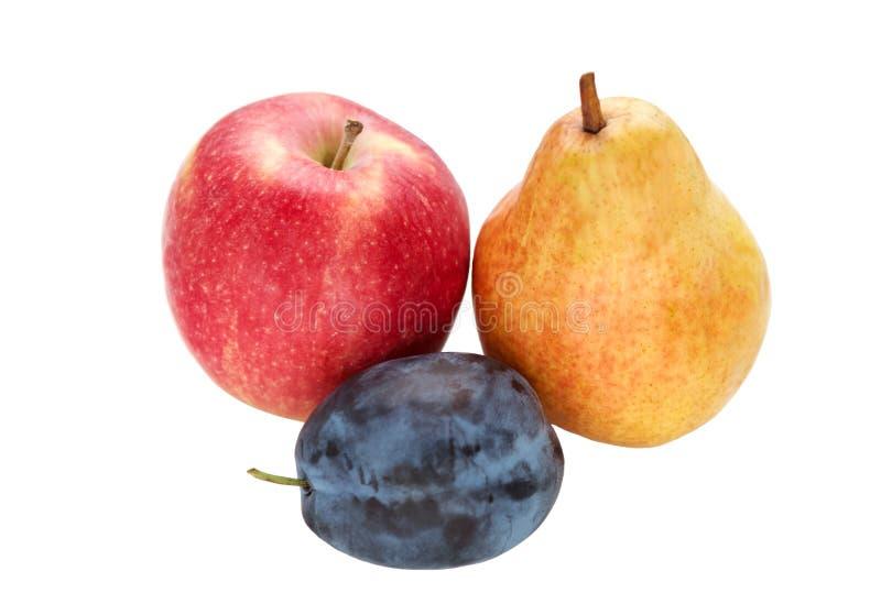 Śliwka, jabłko i bonkreta zdjęcia royalty free