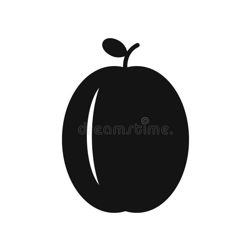 Śliwkowa prosta ikona ilustracja wektor
