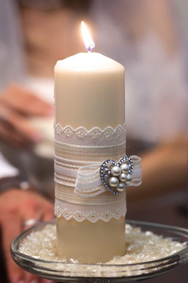 Ślub świeczka zdjęcia royalty free