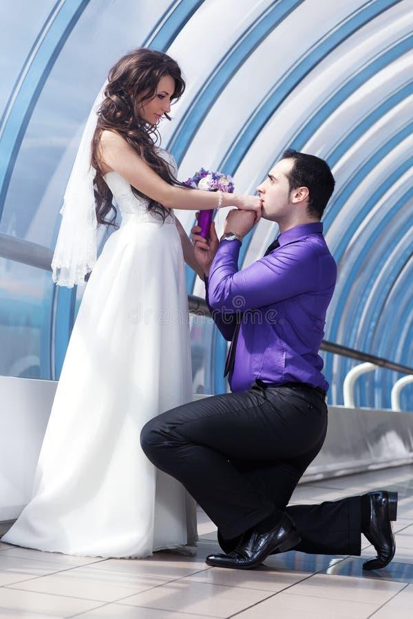 Ślub młoda para obraz stock