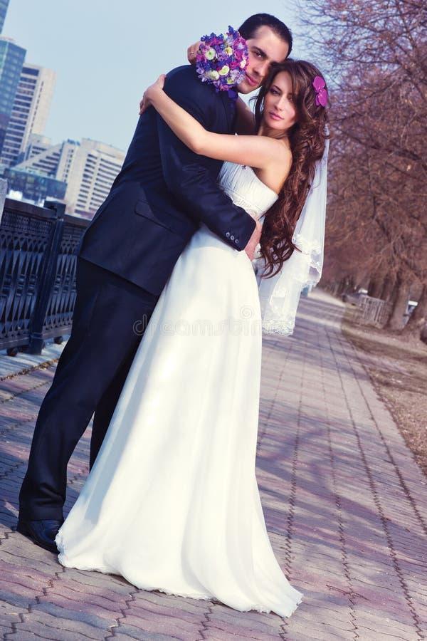 Ślub młoda para zdjęcie stock