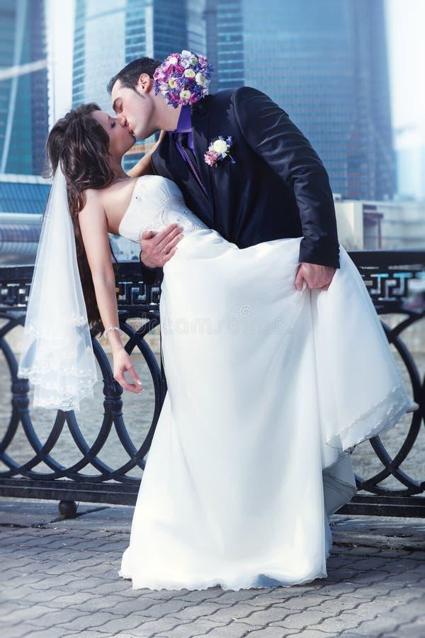 Ślub młoda para zdjęcie royalty free