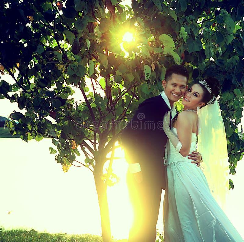 Ślub szczęśliwa para zdjęcie stock