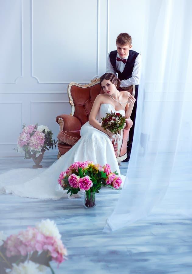 Ślub w retro stylu zdjęcia stock