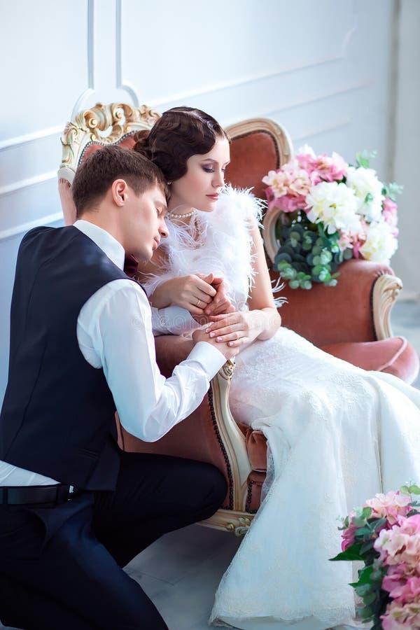 Ślub w retro stylu fotografia royalty free