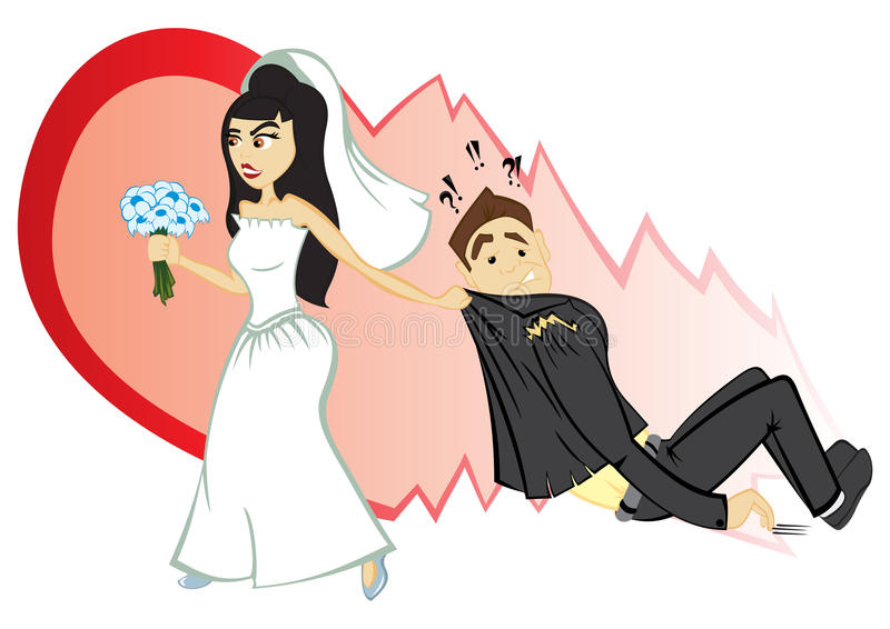 Ślubna ceremonia ilustracja wektor