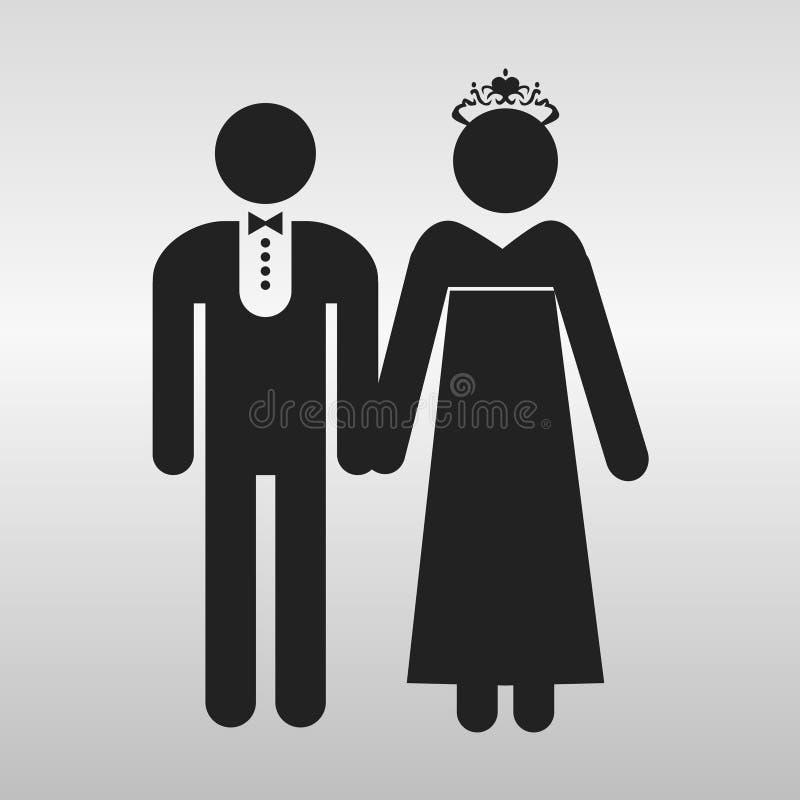 Ślubna ikona wektor ilustracja wektor