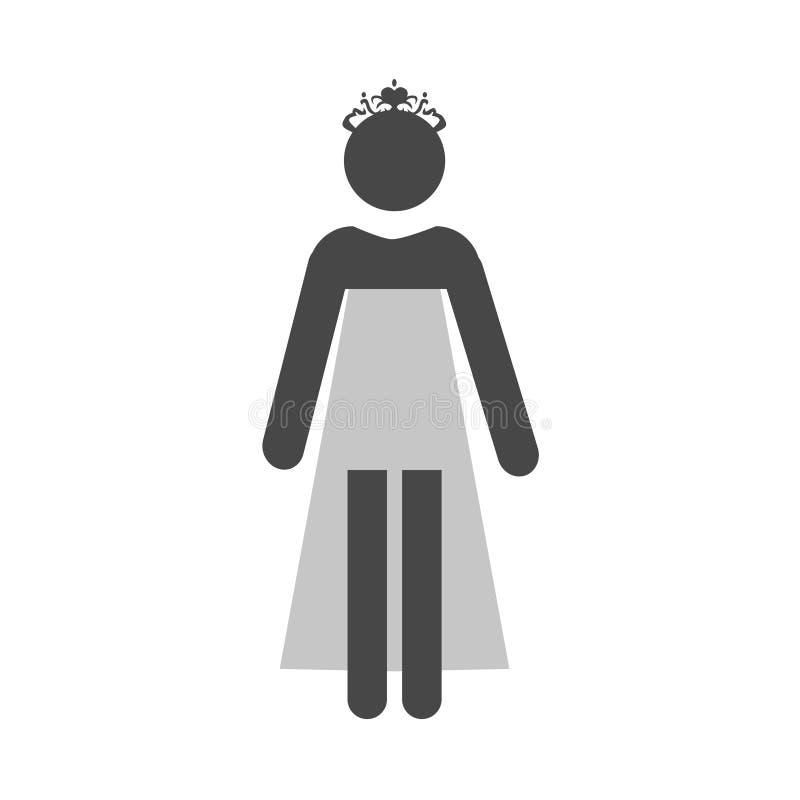 Ślubna ikona wektor ilustracji