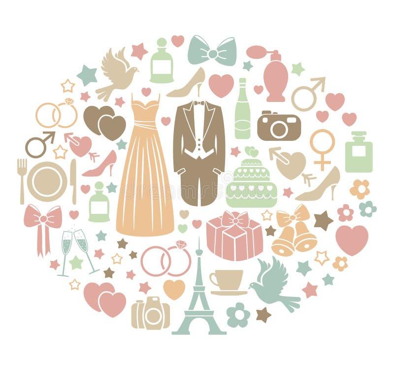 Ślubna karta royalty ilustracja