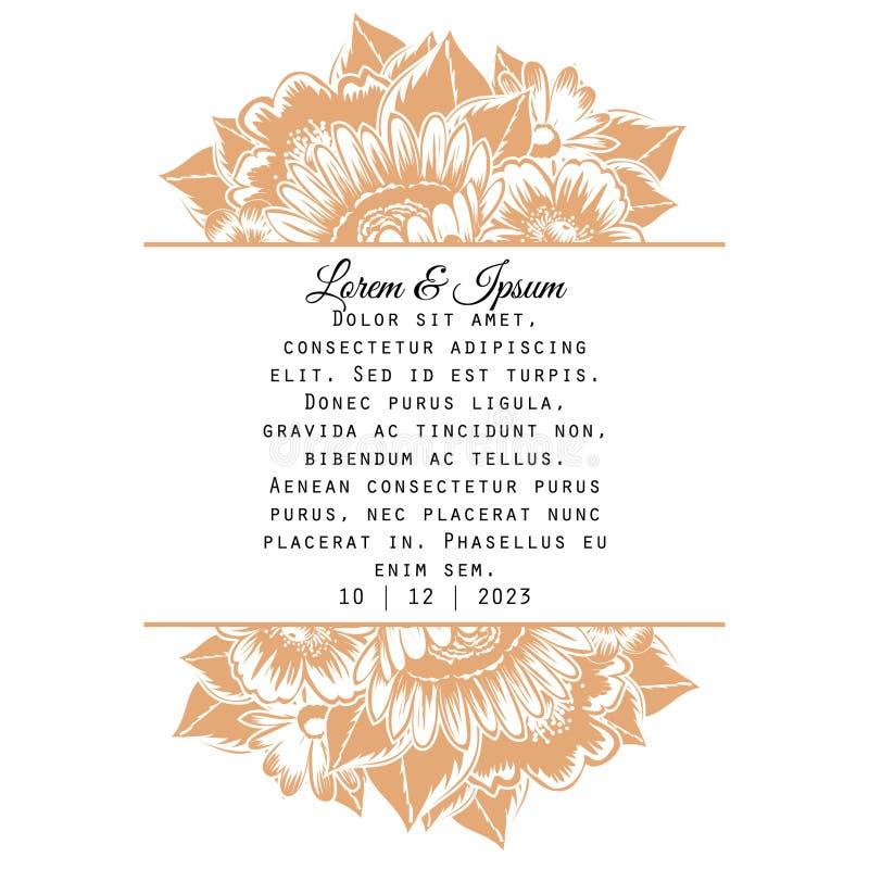 Ślubna karta ilustracji