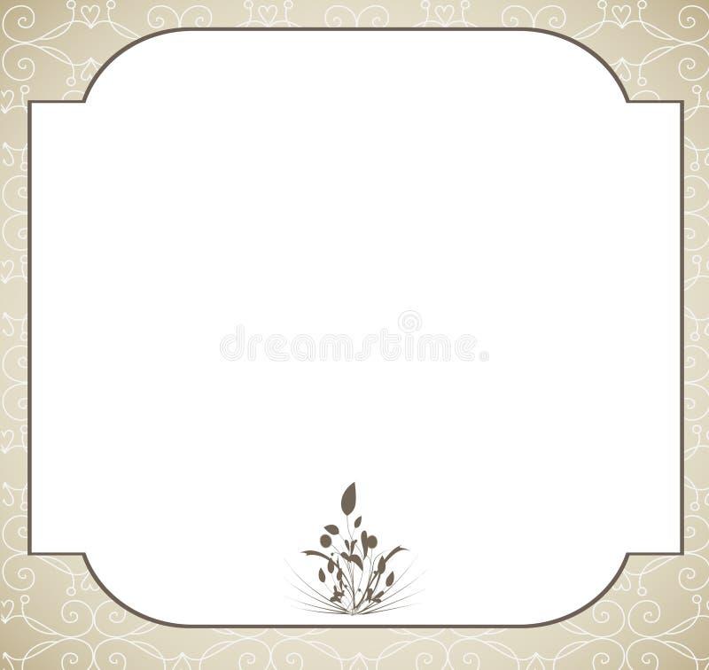 Ślubna karta zdjęcie stock