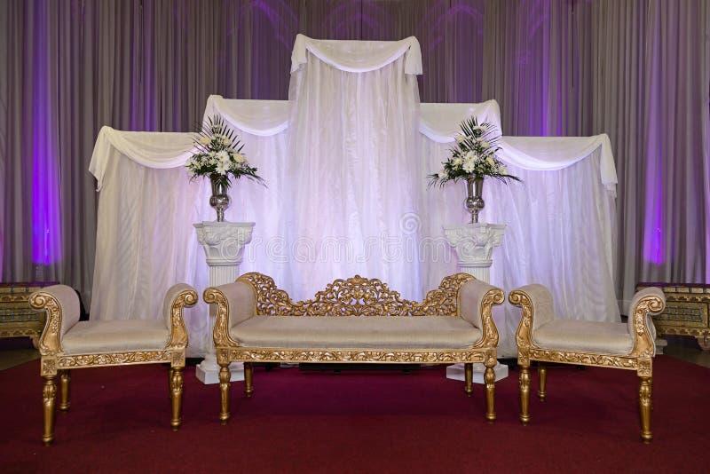 Ślubna scena emp zdjęcie stock