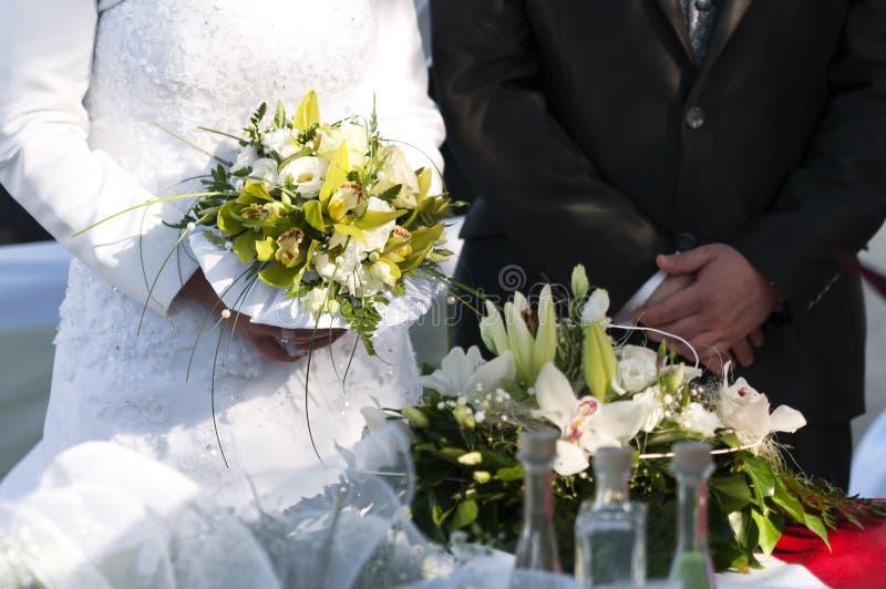 Ślubna scena w lato czasie fotografia royalty free