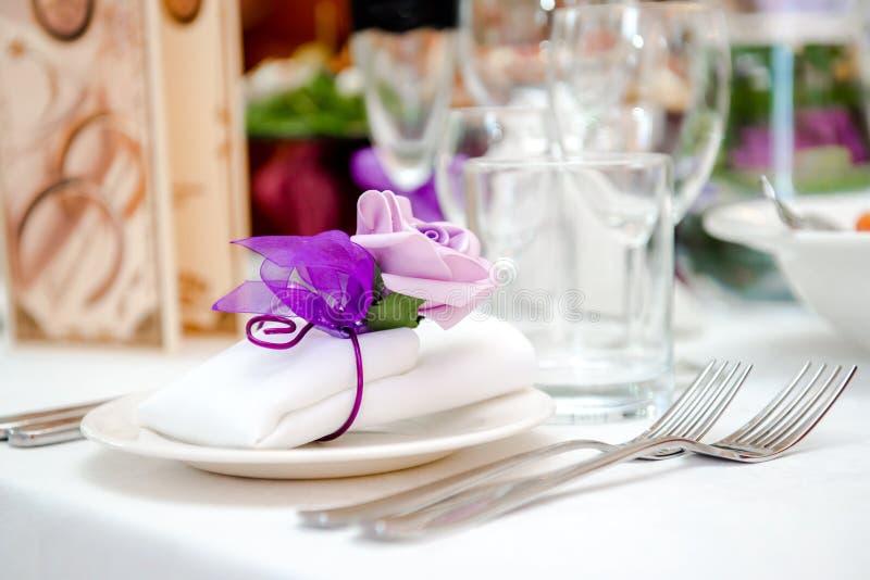 Ślubna stołowa dekoracja obrazy royalty free