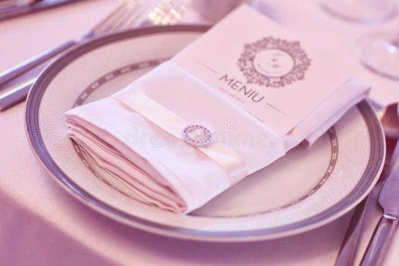 Ślubna stołowa dekoracja zdjęcie stock