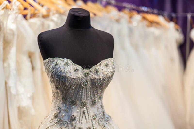 Ślubna suknia na mannequin zdjęcia royalty free