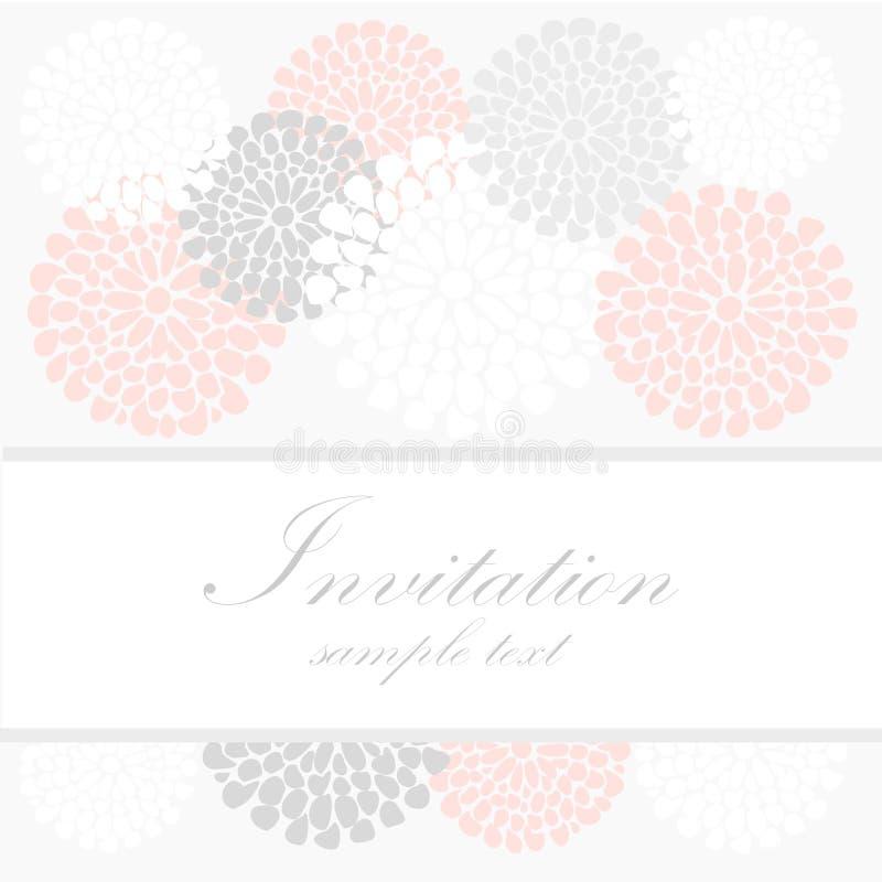 Ślubna urodzinowa karta lub zaproszenie z abstraktem  ilustracja wektor
