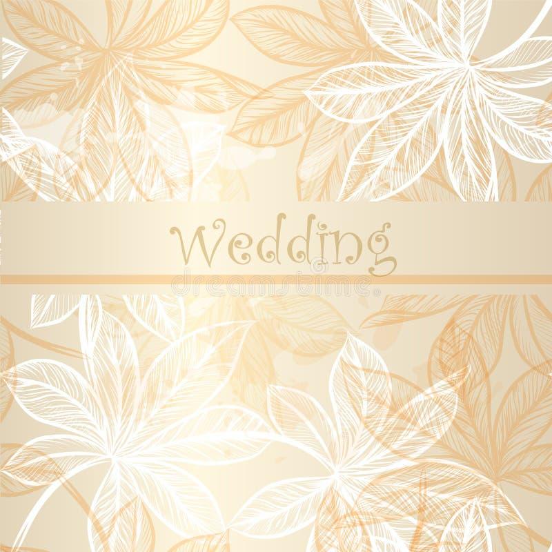20)Ślubna zaproszenie karta z kwiecistymi elementami royalty ilustracja